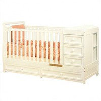 AFG International Furniture Athena Daphne Convertible Crib in White - 661W - Cribs - Nursery Furniture - Baby &amp; Kids&#x27; Furniture - Furniture