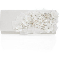 Oscar de la Renta|Silk embroidered clutch |NET-A-PORTER.COM