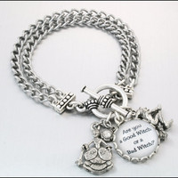 Simply Charming Bracelet Good Witch Bad Witch by BlackberryDesigns