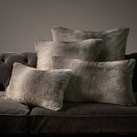 Luxe Faux Fur Pillow Covers - Wolf
