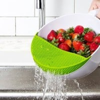 Bowl with Strainer : Soak and Strain