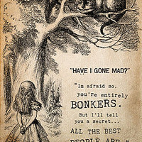 Alice In Wonderland 'Bonkers' Print