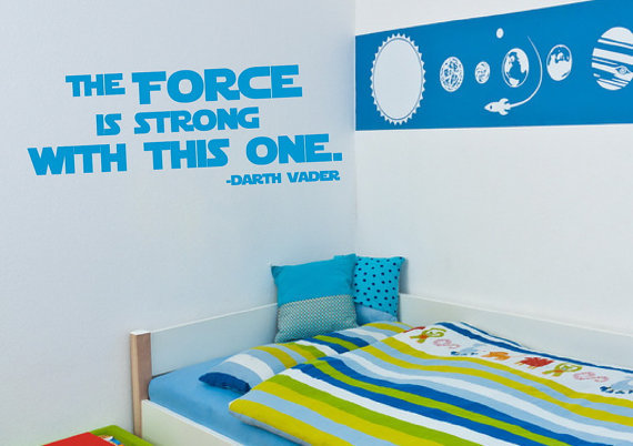 The Force is Strong With This One Vinyl by CuttinUpCustomDieCut