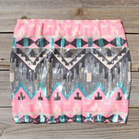 Back Trail Skirt in Pink