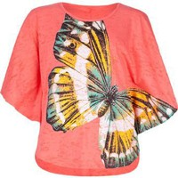 Amazon.com: FULL TILT Butterfly Girls Circle Top: Clothing