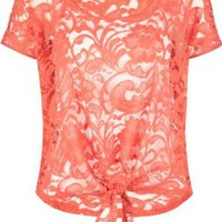 Amazon.com: FULL TILT Lace Tie Front Womens Top: Clothing