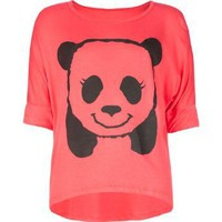 Amazon.com: FULL TILT Hi Bye Panda Girls Tee: Clothing