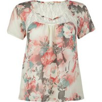 Amazon.com: FULL TILT Lace Chiffon Womens Top: Clothing