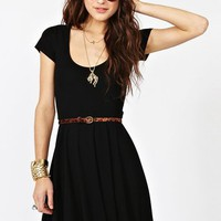 Crossed Skater Dress in Clothes at Nasty Gal