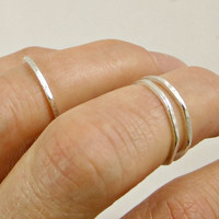 Knuckle Ring Fine Silver Set of Three 16G by adorned7 on Etsy