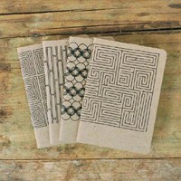 Supermarket - 4 NOTEBOOKS | geometric no.1 from PAWLING | print studio