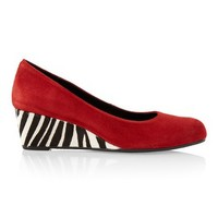 Chico's Loraine Zebra Wedge Pump