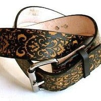 Handmade Leather Belt Floral Victorian by Project-TransAction