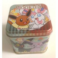 Pokemon Center 2013 Sylveon Eevee Espeon Flareon Glaceon Jolteon Leafeon Umbreon Vaporeon Pikachu Oshawott Mini Size Cookie Collector Tin