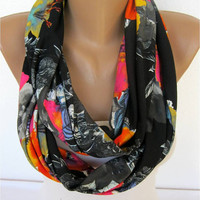 ON SALE -Scarf, Infinity Scarf, Shawl Circle Scarf Loop Scarf,Gift Scarf,Jersey Fabric