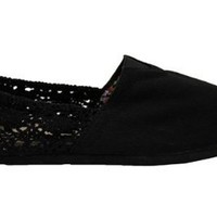 Amazon.com: Womens Black Crochet Canvas Espadrilles Shoes: Shoes