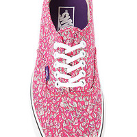 The Vans x Liberty of London Authentic Sneaker in Leaves & Pink