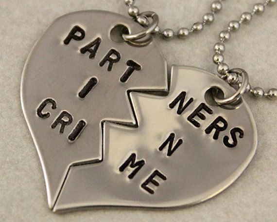 Partners in crime split heart necklaces from twentysix7 for Baby jewelry near me