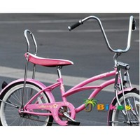 "Amazon.com: Micargi Hero 20"" Girls Low Rider Beach Cruiser Bicycle Pink: Sports & Outdoors"