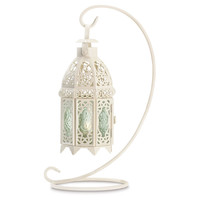 One Kings Lane - Get the Glow - S/2 Moroccan Tabletop Lanterns, White