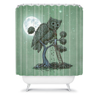 DENY Designs Home Accessories | Terry Fan The Night Gardener Shower Curtain