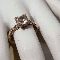 Vintage Uncas gold diamond ring size 6 by PaganCellarJewelry