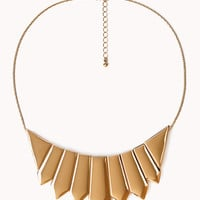 Sleek Plated Bib Necklace