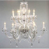 "Amazon.com: Chandelier Lighting Crystal Chandeliers H27"" X W32"": Home Improvement"
