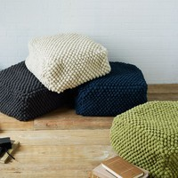 Bubble Knit Pouf