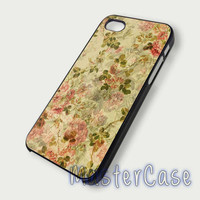 Floral Vintage- Hard Plastic,Covers Phone,Custom IPhone 5,IPhone 4,Samsung Galaxy S3,S4,Blackberry,HTC One -AA198-15