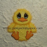 Charlie The Chick Tear Bear Paper Piecing Embellisment By Patty | Luulla