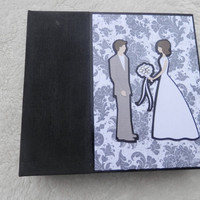 6x6 Premade Wedding or Bridal Shower Scrapbook Album