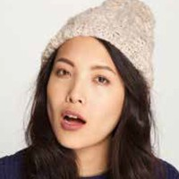 Genie by Eugenia Kim Kate Sequin Wool Blend Cabled Beanie in Beige