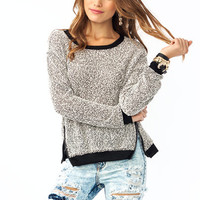 Zip-It-A-Bit-Boucle-Sweater CREAMBLACK - GoJane.com