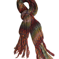 Colorful Marled Knit Fringe Scarf | Shop Just Arrived at Wet Seal