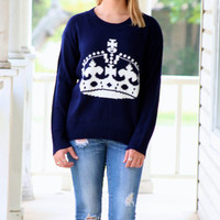 Queen Sweater - Navy