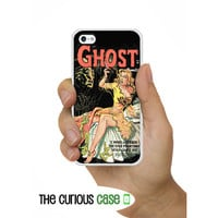 iPhone 4S Case Ghost Horror Vintage Comic  / Hard Case For iPhone 4 and iPhone 4S Rubber Trim