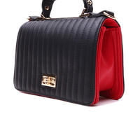 Clutch in Black Red