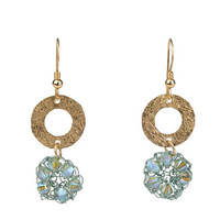 Blue Crystal Earrings - 14K Gold Filled and Swarovski Crystals