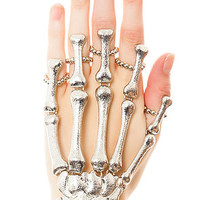 The Skeletal Passion Handlet  in Rhodium