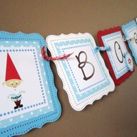 Gnome Sweet Baby Banner for Baby Shower or Nursery, Boy or Girl
