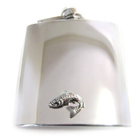 Salmon 6 oz. Stainless Steel Flask