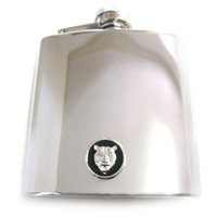 Bear 6 oz. Stainless Steel Flask
