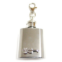 Violin 1 oz. Stainless Steel Key Chain Flask