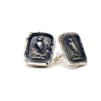 Owl Wax Seal Studs | Wax Seal Earrings | Pyrrha