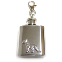 Tiger 1 oz. Stainless Steel Key Chain Flask