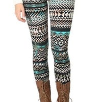 Multicolor Tribal Print Legging