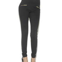 High Waist Zip Ponte Legging | Shop English Manor at Arden B