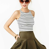 On The Outs Skirt - Olive