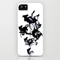 Black horses iPhone & iPod Case by Robert Farkas